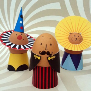 make: circus egg decorations, free printable!