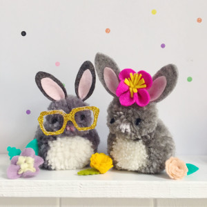make: easter pompom bunnies